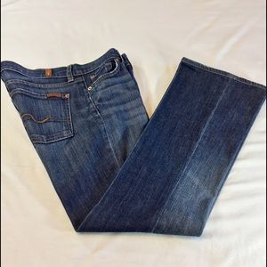 7 For All Mankind Lightly Distressed Jean Bootcut